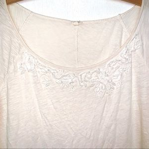 J. Crew Tops - J. Crew Cream Embellished Jeweled Beaded T-Shirt